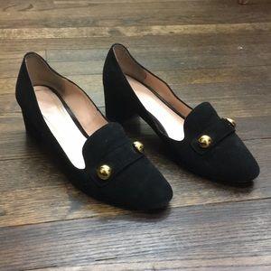 Kate Spade Black Suede Heels Size 8
